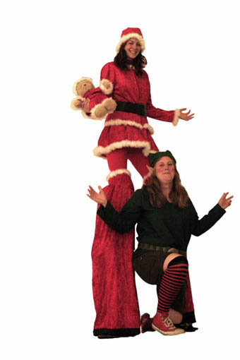 Christmas Stiltwalking Act